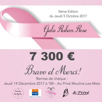 7300€ Gala Ruban Rose 2017